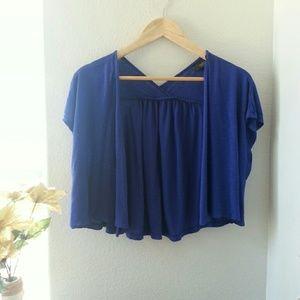 Mossimo Blue Crop Cardigan Size Xlarge